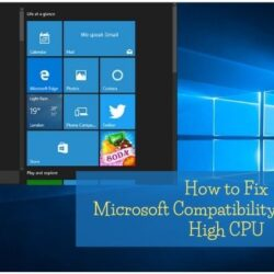Microsoft Compatibility Telemetry High CPU